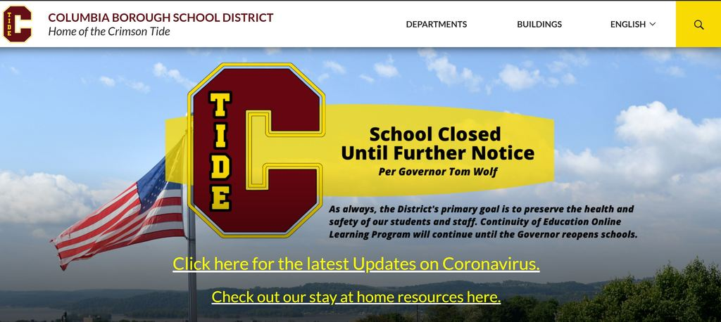 District Home Page