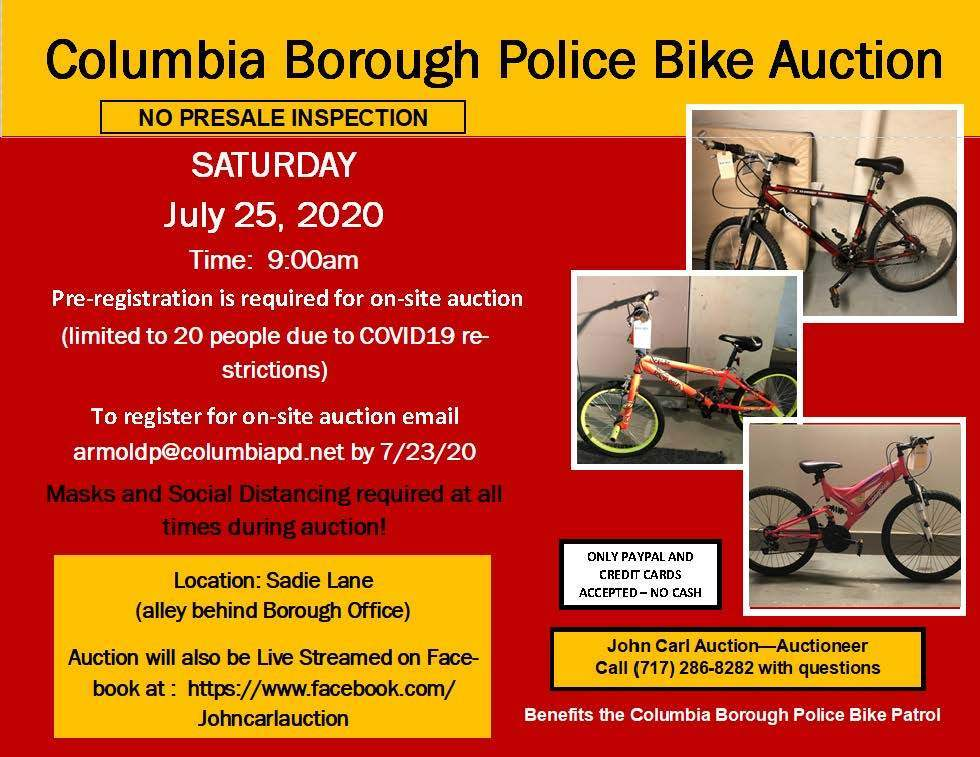 Police Bike Auction